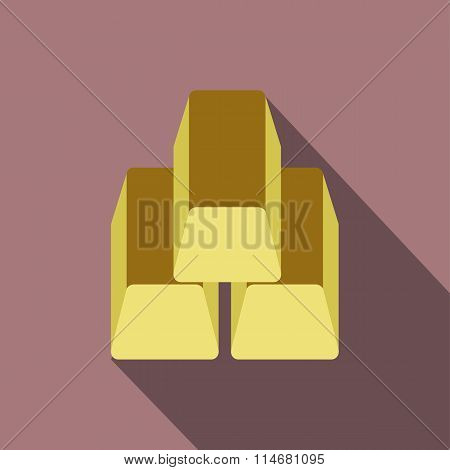 Gold bars flat icon