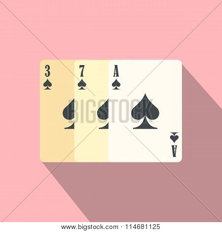 Playing cards flat icon