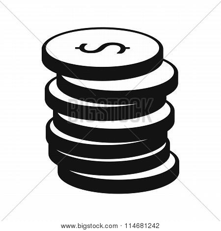 Stack of gold coins icon