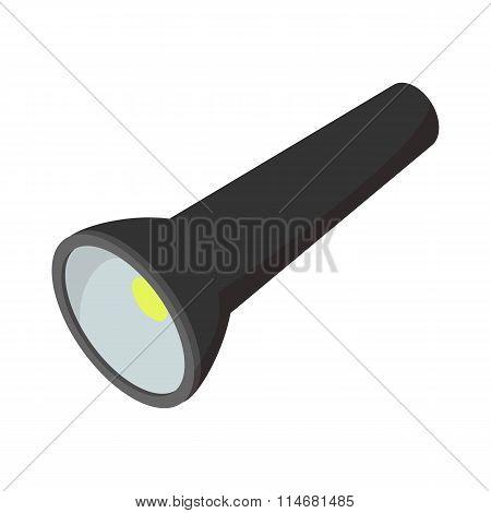 Flashlight cartoon icon