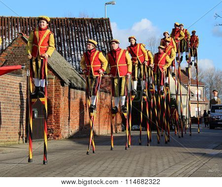 Stilt Walkers on Parade