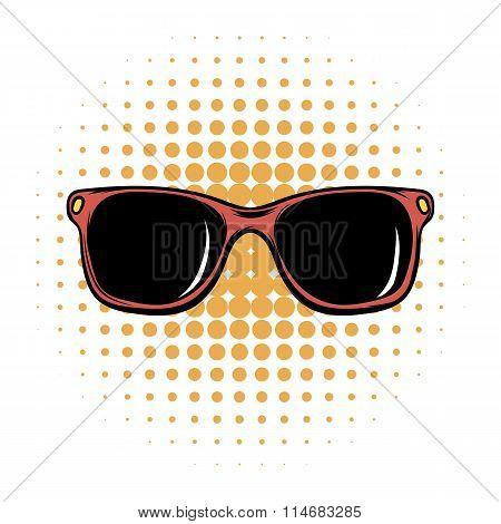 Sunglasses comics icon