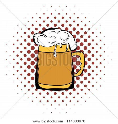 Beer mug comics icon