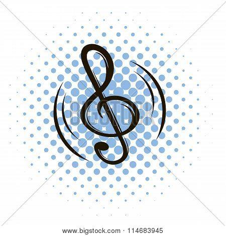 Music key comics icon