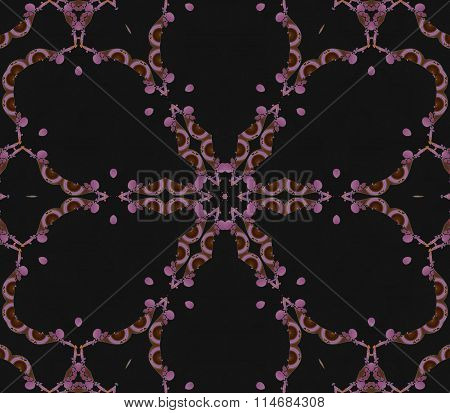 Seamless floral pattern violet black