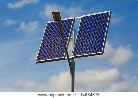 Lamppost With Solar Panels