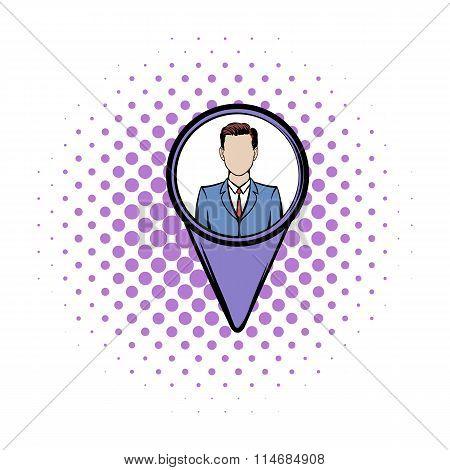 Location people comics icon