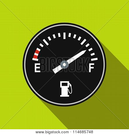 Fuel gauge flat icon
