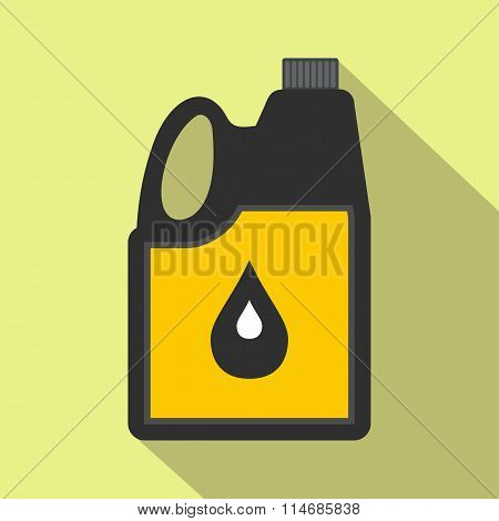 Jerrycan oil flat icon