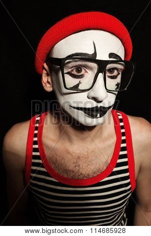 Portrait Of Sad Mime
