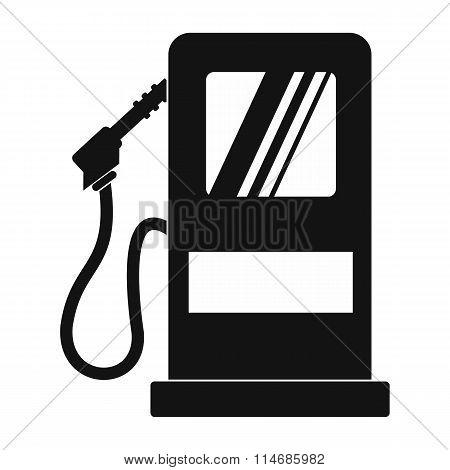 Gas station black simple icon