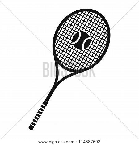 Tennis racquet and ball icon