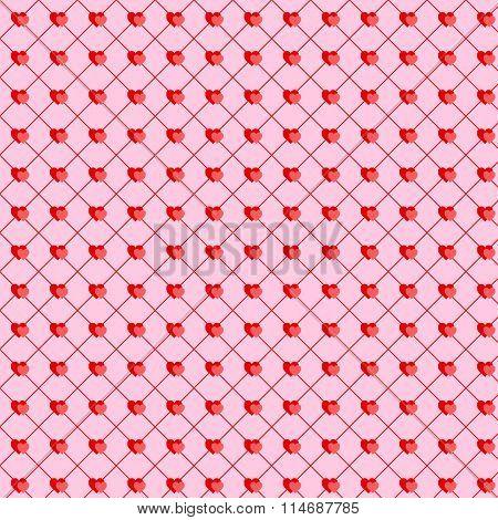 Valentine Heart Couple Seamless Background