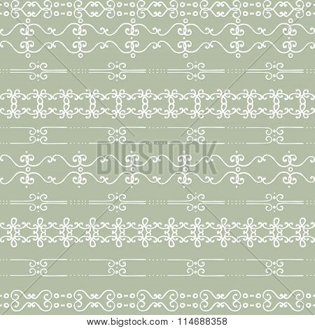 Hand Drawn Doodle Stripes Vector Seamless Pattern