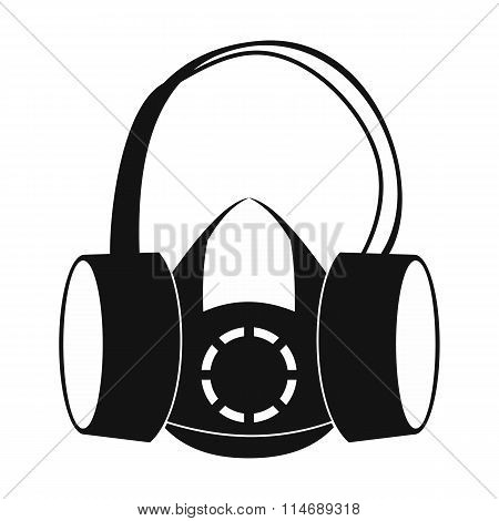 Protective ear muffs and respirator icon