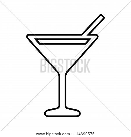 Coctail line icon