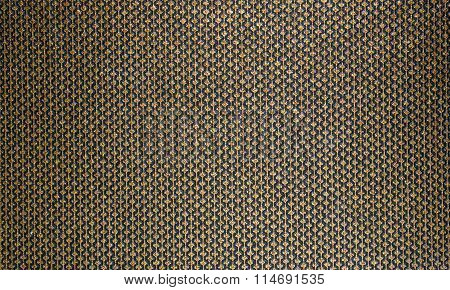 Rich, honey texture for fabric . Gold lines patterns with diamonds on a black backgroun