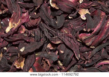 Dried rose petals. Tea of rose petals. Closeup, texture