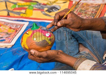 Hands Creating Handicraft Items
