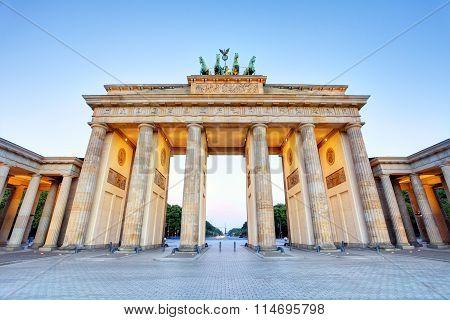 Branderburger Tor- Brandenburg Gate In Berlin, Germany