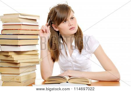 Tiered student girl