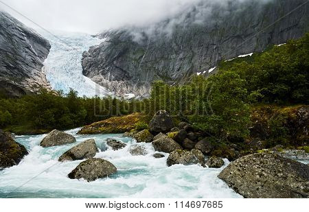 Beautiful Glacier In Norway