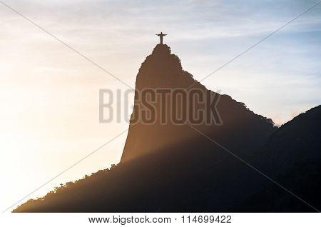 Corcovado Mountain Silhouette