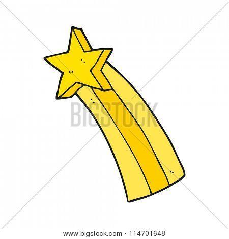 freehand drawn cartoon shooting star