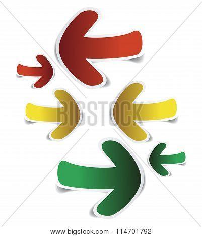 Arrows Sticker Paper