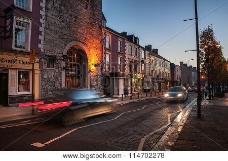 Cashel in Ireland at night