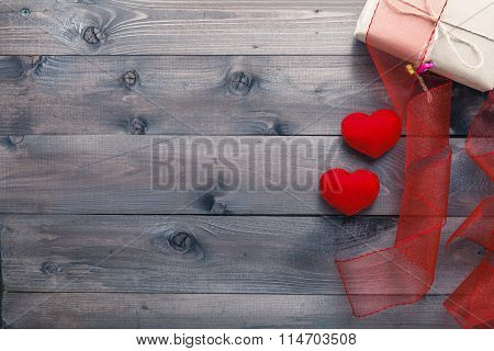 Love Background On Rustic Wood