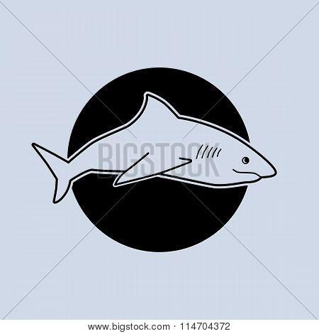 Illustration of a shark. Minimalist vector illustration.