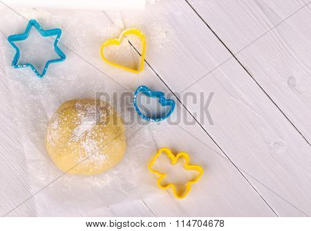 Dough And Molds For Cookies