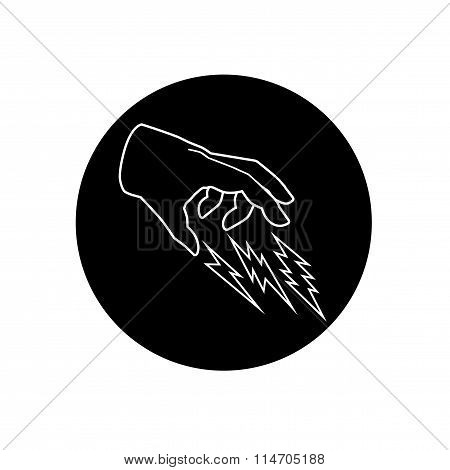 Illustration Of Hand And Thunder