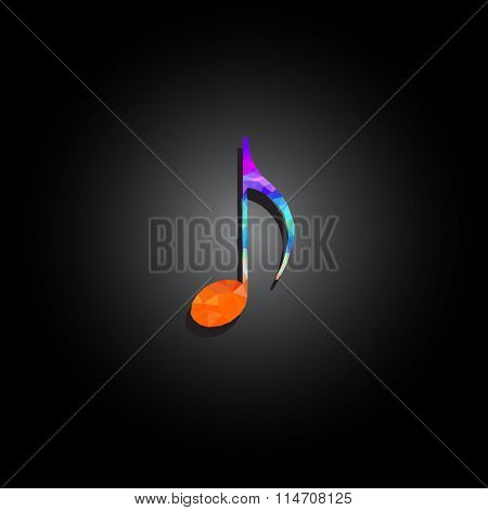 music notes polygon design easy all editable