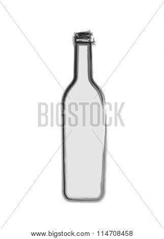 Grunge style Bottle design background, easy editable