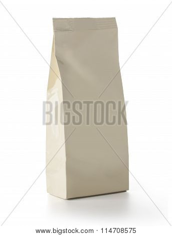 Brown Blank Foil Food Snack Sachet Bag Packaging