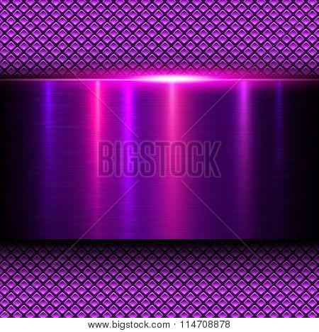 Background pink metal texture, vector illustration.
