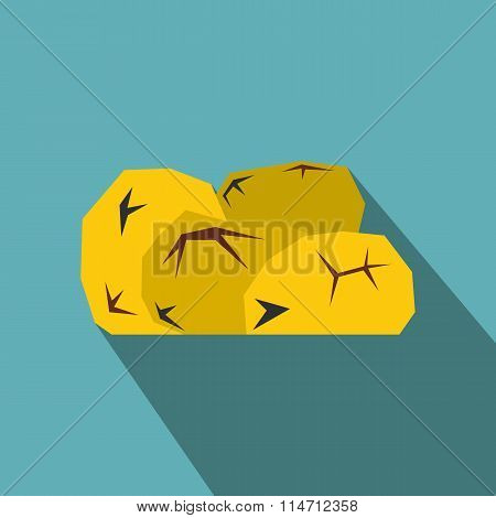 Gold nuggets flat icon
