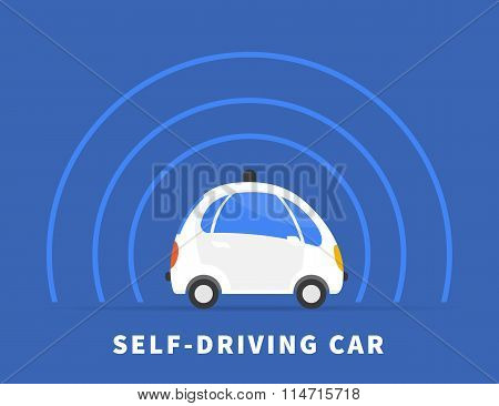 Self-driving car  black icon