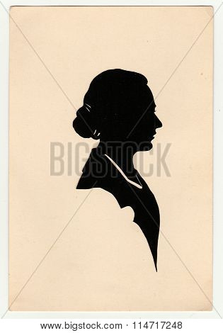 Vintage silhouette of woman