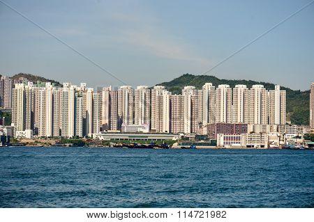HONG KONG - MAY 09, 2012: daytime view of Hong Kong. Hong Kong, is an autonomous territory on the southern coast of China at the Pearl River Estuary and the South China Sea