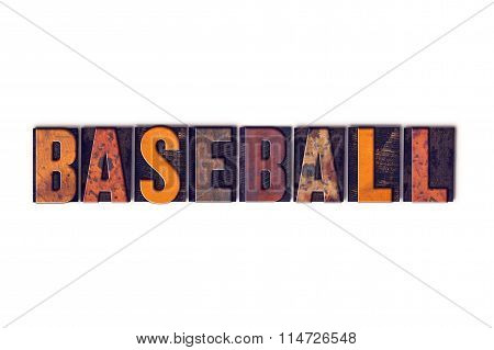 Baseball Concept Isolated Letterpress Type