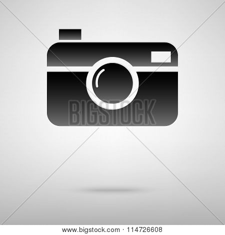 Digital camera black icon