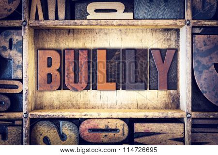 Bully Concept Letterpress Type