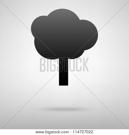 Tree black icon