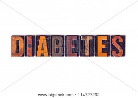 Diabetes Concept Isolated Letterpress Type