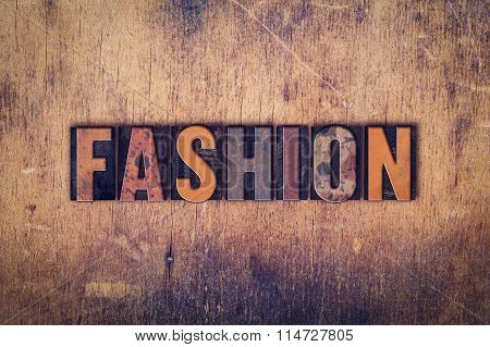 Fashion Concept Wooden Letterpress Type