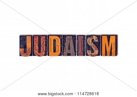 Judaism Concept Isolated Letterpress Type