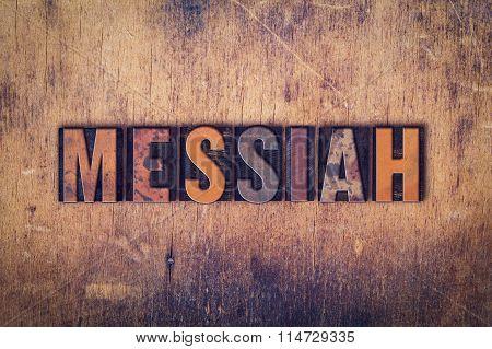 Messiah Concept Wooden Letterpress Type